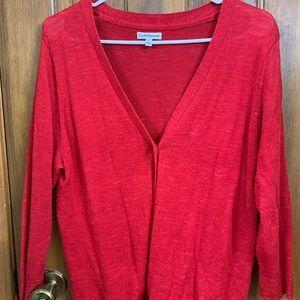 Ladies Red Cardigan